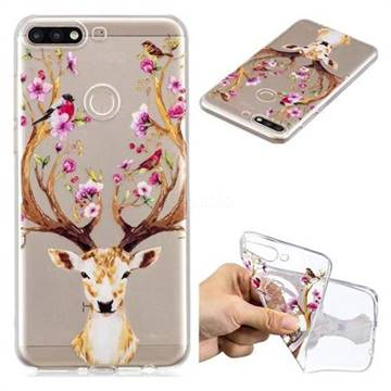 Flower Dear Head Super Clear Soft TPU Back Cover for Huawei Y7 Pro (2018) /  Y7 Prime(2018) / Nova2 Lite - Back Cover - Guuds
