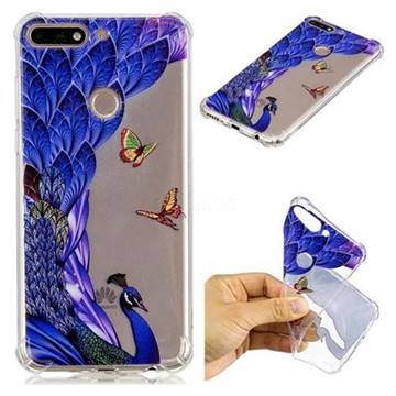 new products a6807 39f0a Peacock Butterfly Anti-fall Clear Varnish Soft TPU Back Cover for Huawei Y7  Pro (2018) / Y7 Prime(2018) / Nova2 Lite
