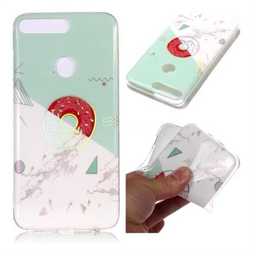 Donuts Marble Pattern Bright Color Laser Soft TPU Case for Huawei Y7 Pro (2018) / Y7 Prime(2018) / Nova2 Lite