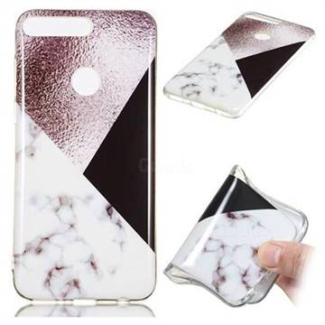 Black white Grey Soft TPU Marble Pattern Phone Case for Huawei Y7 Pro (2018) / Y7 Prime(2018) / Nova2 Lite