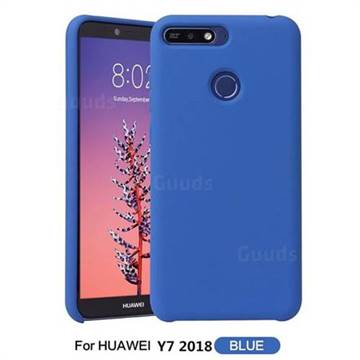 promo code 2c723 bd64d Howmak Slim Liquid Silicone Rubber Shockproof Phone Case Cover for Huawei  Y7 Pro (2018) / Y7 Prime(2018) / Nova2 Lite - Sky Blue