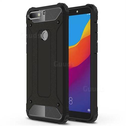 King Kong Armor Premium Shockproof Dual Layer Rugged Hard Cover for Huawei Y7 Pro (2018) / Y7 Prime(2018) / Nova2 Lite - Black Gold