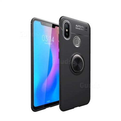 Auto Focus Invisible Ring Holder Soft Phone Case for Huawei Y9 (2019) - Black