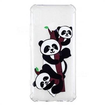 Three Pandas Anti-fall Clear Varnish Soft TPU Back Cover for Huawei Y9 (2019)