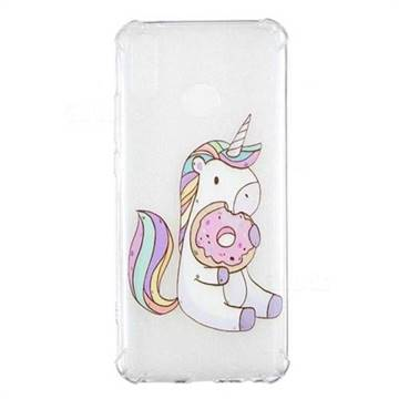 Donut Unicorn Anti-fall Clear Varnish Soft TPU Back Cover for Huawei Y9 (2019)
