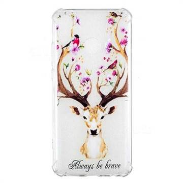 Always be Brave Anti-fall Clear Varnish Soft TPU Back Cover for Huawei Y9 (2019)