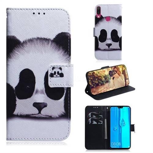 Sleeping Panda PU Leather Wallet Case for Huawei Y9 (2019)