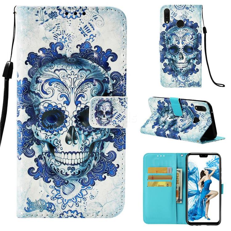 Cloud Kito 3D Painted Leather Wallet Case for Huawei Y9 (2019)