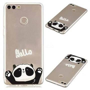 Hello Panda Super Clear Soft TPU Back Cover for Huawei Y9 (2018)