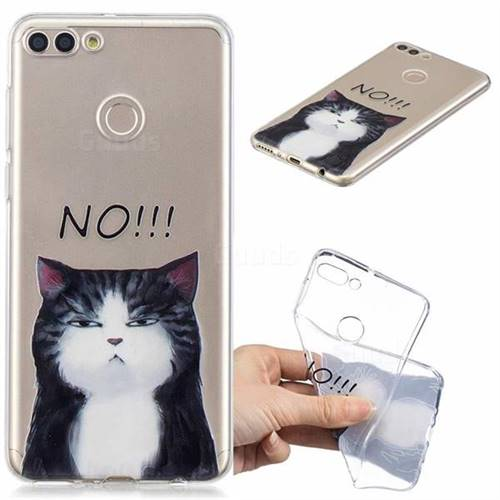 No Cat Clear Varnish Soft Phone Back Cover for Huawei Y9 (2018)