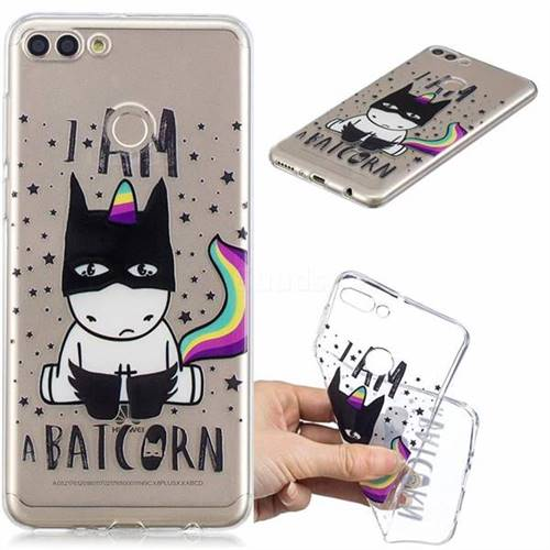 Batman Clear Varnish Soft Phone Back Cover for Huawei Y9 (2018)