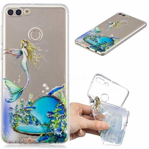 Mermaid Clear Varnish Soft Phone Back Cover for Huawei Y9 (2018)