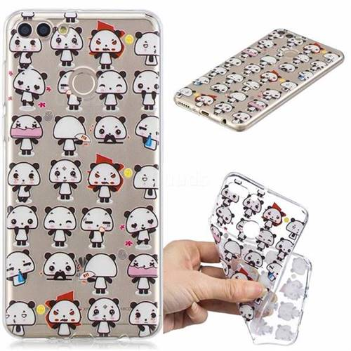 Mini Panda Clear Varnish Soft Phone Back Cover for Huawei Y9 (2018)