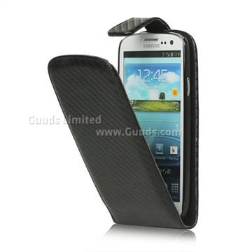 Carbon Fiber Leather Case for Samsung Galaxy S 3 I9300 Leather Case / S III I9300 I747 L710 T999 I535 R530