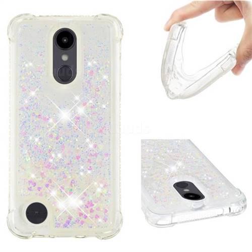 Dynamic Liquid Glitter Sand Quicksand Star TPU Case for LG Aristo 2 - Pink
