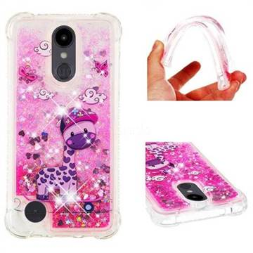 Skateboard Deer Dynamic Liquid Glitter Sand Quicksand Star TPU Case for LG Aristo 2