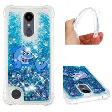 Happy Dolphin Dynamic Liquid Glitter Sand Quicksand Star TPU Case for LG Aristo 2