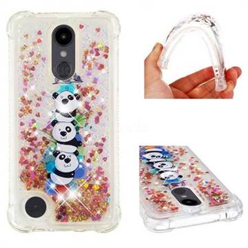 Three Pandas Dynamic Liquid Glitter Sand Quicksand Star TPU Case for LG Aristo 2