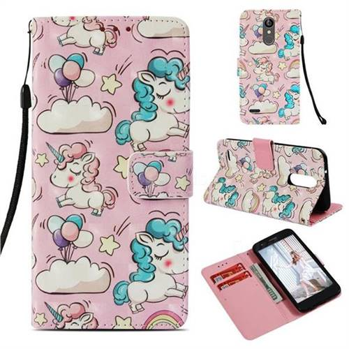 Angel Pony 3D Painted Leather Wallet Case for LG Aristo 2