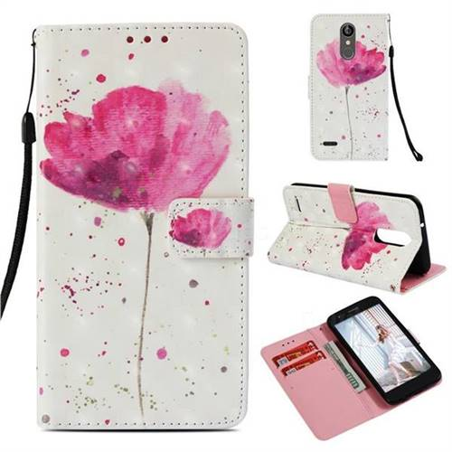 Watercolor 3D Painted Leather Wallet Case for LG Aristo 2