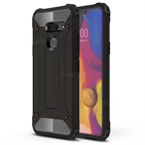 King Kong Armor Premium Shockproof Dual Layer Rugged Hard Cover for LG G8 ThinQ (G8s ThinQ) - Black Gold