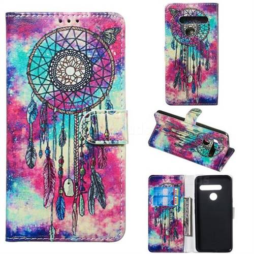 Butterfly Chimes PU Leather Wallet Case for LG G8 ThinQ (G8s ThinQ)