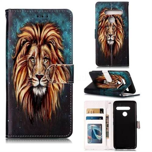 Ice Lion 3D Relief Oil PU Leather Wallet Case for LG G8 ThinQ (G8s ThinQ)