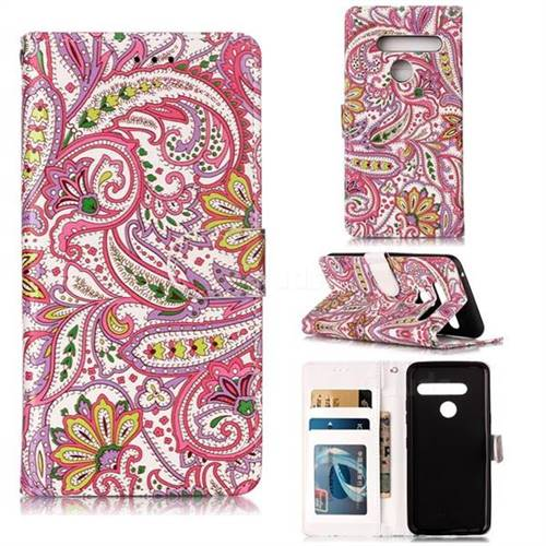 Pepper Flowers 3D Relief Oil PU Leather Wallet Case for LG G8 ThinQ (G8s ThinQ)