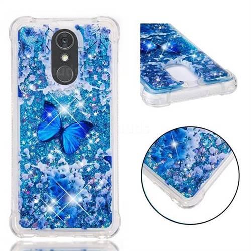 Flower Butterfly Dynamic Liquid Glitter Sand Quicksand Star TPU Case for LG Stylo 4