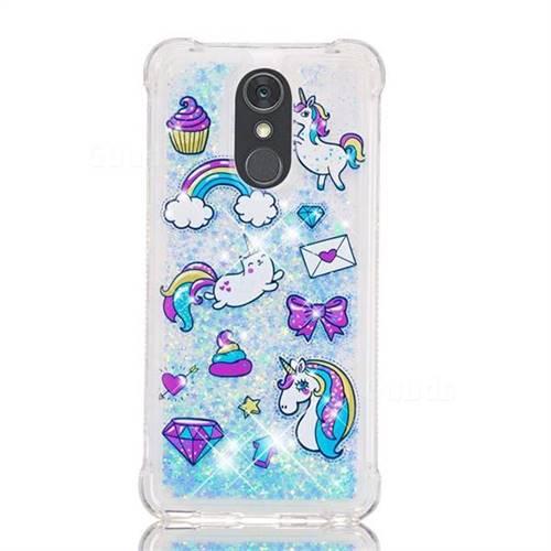 Fashion Unicorn Dynamic Liquid Glitter Sand Quicksand Star TPU Case for LG  Stylo 4