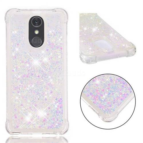 Dynamic Liquid Glitter Sand Quicksand Star TPU Case for LG Stylo 4 - Pink