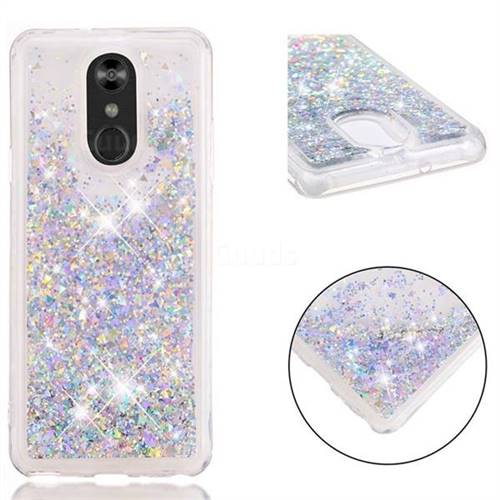 huge discount 008c7 6007e Dynamic Liquid Glitter Quicksand Sequins TPU Phone Case for LG Stylo 4 -  Silver