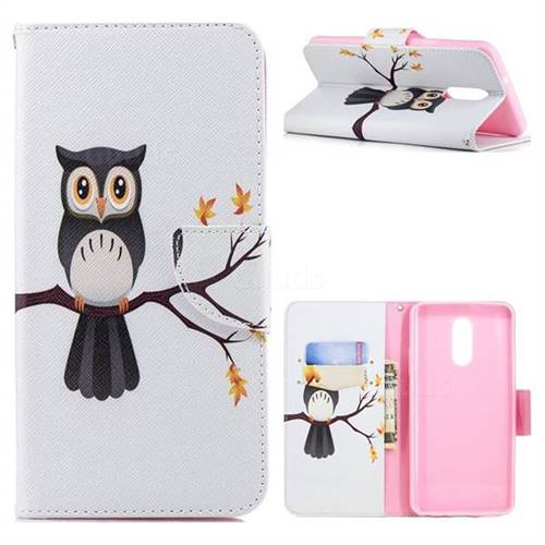 Owl on Tree Leather Wallet Case for LG Stylo 4