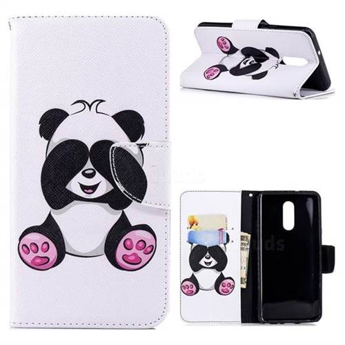 Lovely Panda Leather Wallet Case for LG Stylo 4