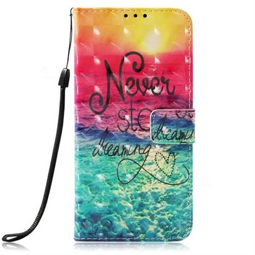 Colorful Dream Catcher 3D Painted Leather Wallet Case for LG Stylo 4