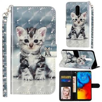 Kitten Cat 3D Leather Phone Holster Wallet Case for LG Stylo 4