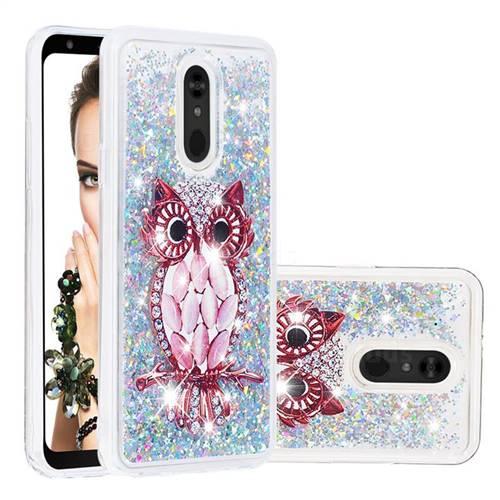 Seashell Owl Dynamic Liquid Glitter Quicksand Soft TPU Case for LG Stylo 5