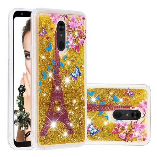 Golden Tower Dynamic Liquid Glitter Quicksand Soft TPU Case for LG Stylo 5