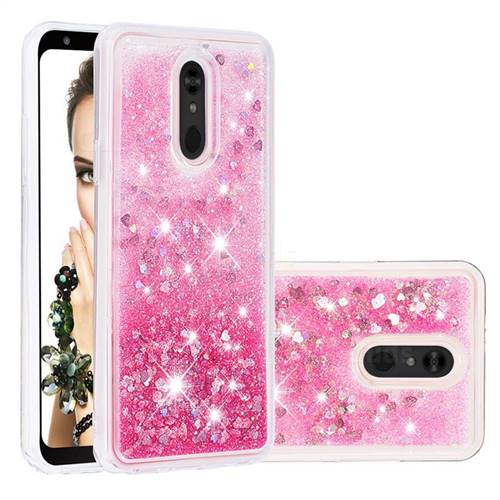 Dynamic Liquid Glitter Quicksand Sequins TPU Phone Case for LG Stylo 5 - Rose