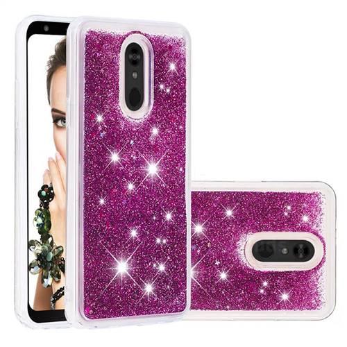Dynamic Liquid Glitter Quicksand Sequins TPU Phone Case for LG Stylo 5 - Purple