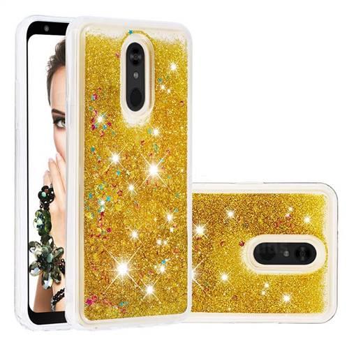 Dynamic Liquid Glitter Quicksand Sequins TPU Phone Case for LG Stylo 5 - Golden