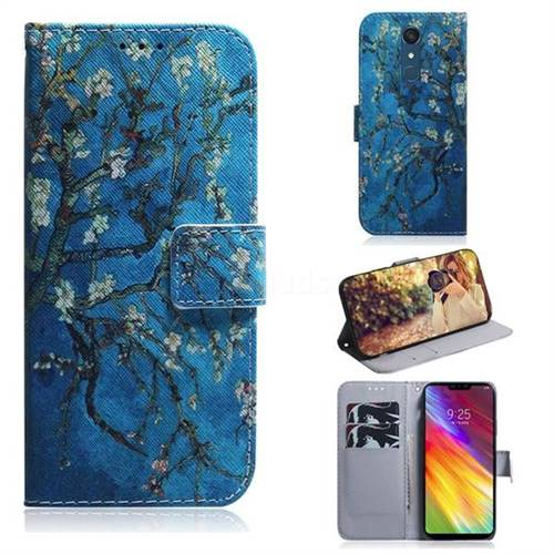 Apricot Tree PU Leather Wallet Case for LG Stylo 5