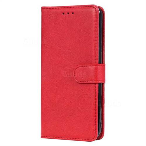 timeless design fe8f7 a0a48 Retro Greek Detachable Magnetic PU Leather Wallet Phone Case for LG Stylo 5  - Red