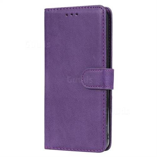 timeless design 9b2a7 9cd80 Retro Greek Detachable Magnetic PU Leather Wallet Phone Case for LG Stylo 5  - Purple