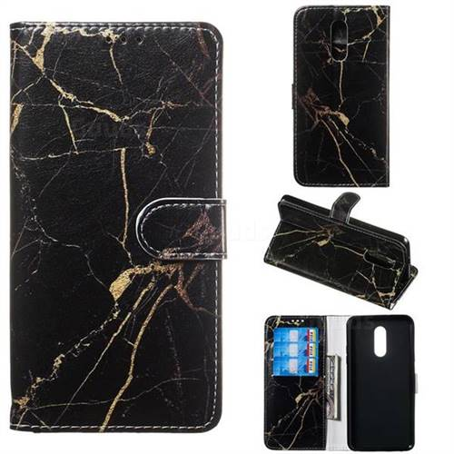 Black Gold Marble PU Leather Wallet Case for LG Stylo 5