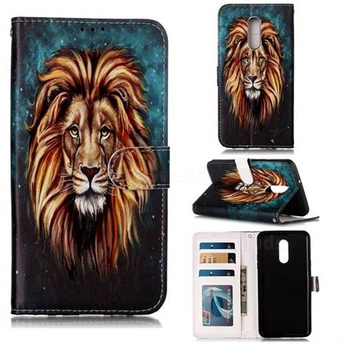 Ice Lion 3D Relief Oil PU Leather Wallet Case for LG Stylo 5