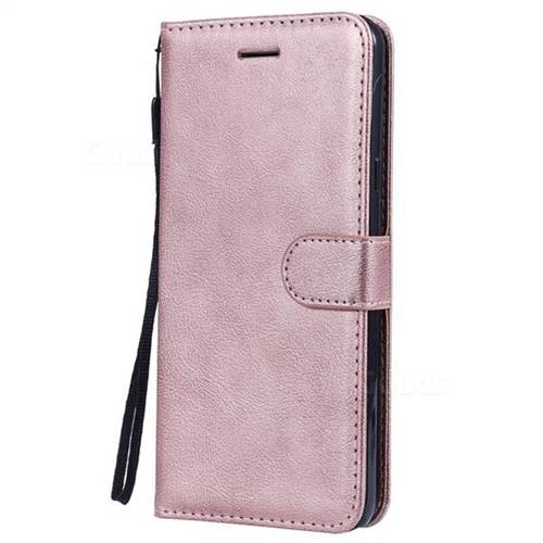 wholesale dealer adcf5 1d0c4 Retro Greek Classic Smooth PU Leather Wallet Phone Case for LG Stylo 5 -  Rose Gold