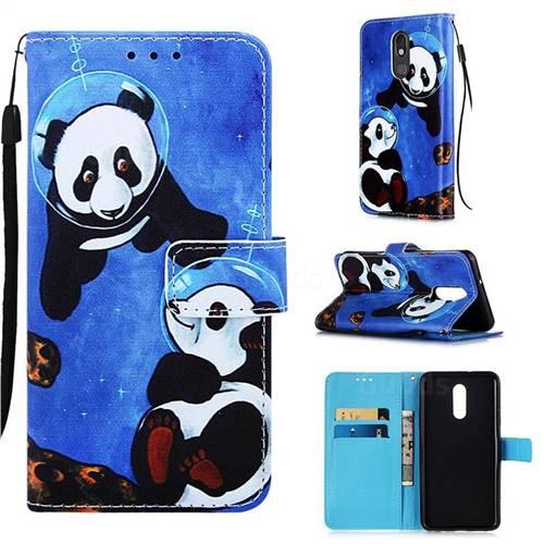 Undersea Panda Matte Leather Wallet Phone Case for LG Stylo 5