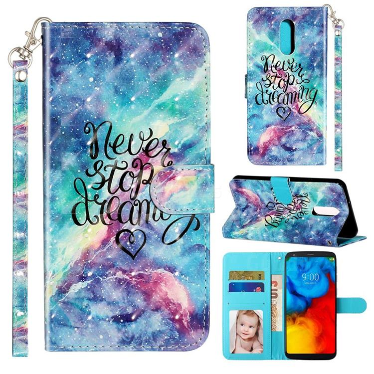 Blue Starry Sky 3D Leather Phone Holster Wallet Case for LG Stylo 5