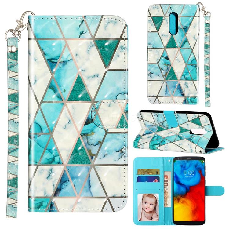 Stitching Marble 3D Leather Phone Holster Wallet Case for LG Stylo 5